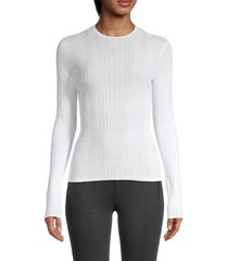 vince women's textured knit sweater - terrace blue - size m