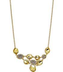 18k yellow gold & diamond bib necklace