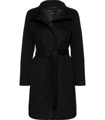 slfmelanie wool coat b wollen jas lange jas zwart selected femme