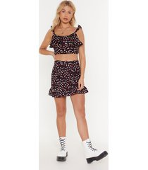 womens how's it growing floral mini skirt - black