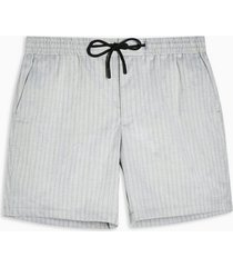mens grey stripe woven pull on shorts