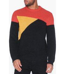 only & sons onsvp kasper 7 colourblock knit tröjor ljus röd