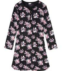 camicia da notte con lenzing™ ecovero™ (nero) - bpc bonprix collection