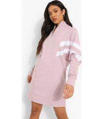 petite colour block sweatshirt jurk met korte rits, lilac