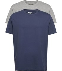 ss 2 pack tee t-shirts short-sleeved multi/mönstrad wrangler