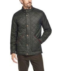 weatherproof vintage men's diamond quilted nylon jacket
