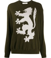 pringle of scotland lion rampant cashmere jumper - green