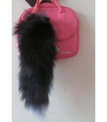 real gray fox tail key chain ring keychain tassel bag handbag pendant accessory