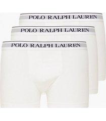 polo ralph lauren classic trunk 3-pack boxershorts white