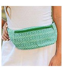 cotton waist bag, 'swift passage' (mexico)