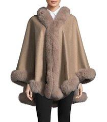 dyed fox fur cape