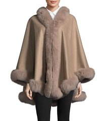 dyed fox fur cape