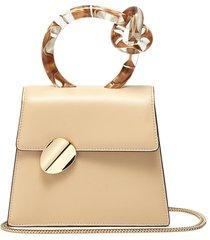 'brigitta small' knotted handle leather crossbody bag