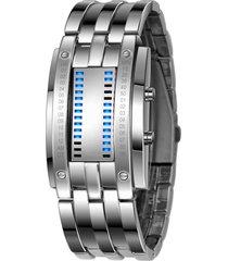 skmei reloj matriz moda hombre binario led digital pulsera