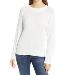 women's nordstrom cozy ballet neck sweater, size x-small - ivory
