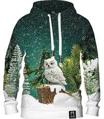 damska bluza z kapturem dr.crow christmas forest