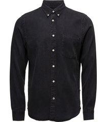 falk 5767 overhemd casual zwart nn07