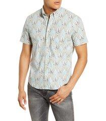 men's billy reid kirby slim fit print short sleeve button-down shirt