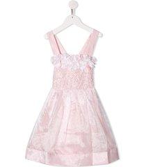 billieblush floral appliqué party dress - pink