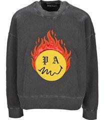 palm angels burning head sweatshirt