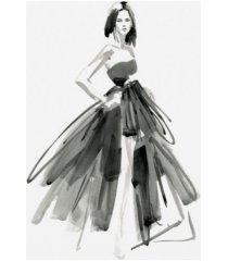 """jennifer paxton parker gestural evening gown i canvas art - 37"""" x 49"""""""