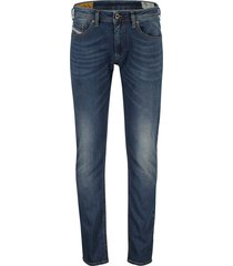 diesel jeans thommer 5-pocket blauw stretch