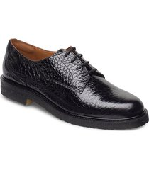 shoes 4717 snörade skor låga svart billi bi