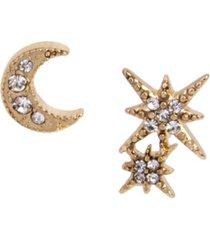 betsey johnson celestial mismatch stud earrings