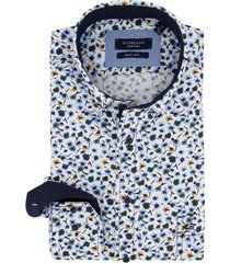 giordano overhemd wit bloemenprint regular fit