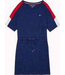 tommy hilfiger women's essential colorblock dress deep blue - xs