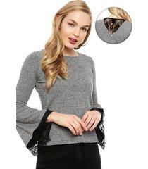 sweater io gris - calce holgado