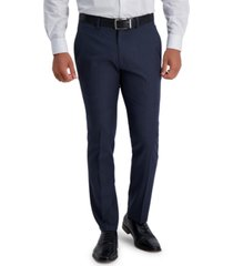 kenneth cole reaction men's slim-fit stretch micro-houndstooth dress pants