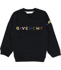 givenchy black cotton sweatshirt