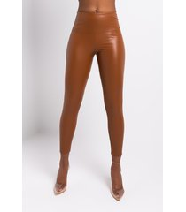 akira barbie doll fitted faux leather leggings