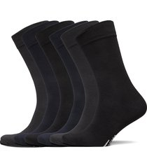 socks 6-p, bamboo underwear socks regular socks svart topeco