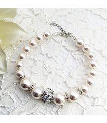 bransoletka ślubna perły swarovski