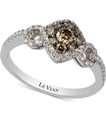 le vian chocolatier diamond ring (5/8 ct. t.w.) in 14k white gold