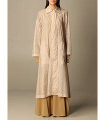 sportmax coat aquile sportmax long trench coat in anti-drop nylon over