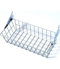 triton products storability coated steel wire basket with lock-on hanging brackets