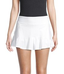 eleven by venus williams women's jammin ruffle-trim tennis skirt - white - size xl
