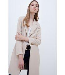 motivi cappotto leggero ad armatura diagonale donna beige