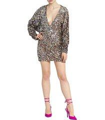 paillettes mini dress