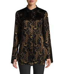 marybeth geometric-print blouse