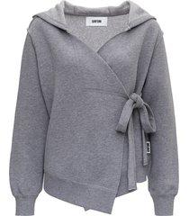 mauro grifoni sweatshirt with hood and bow