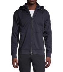 bogner men's kyrill full-zip hooded jacket - blue - size m