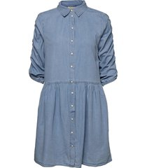 fqbobby-dr-puff knälång klänning blå free/quent