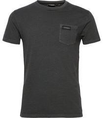 dry goods pocket tee t-shirts short-sleeved grå superdry