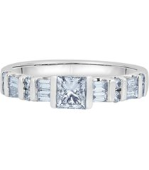 diamond princess-cut engagement ring (1 ct. t.w.) in 14k white gold