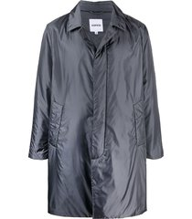 aspesi single breasted mid-length coat - grey