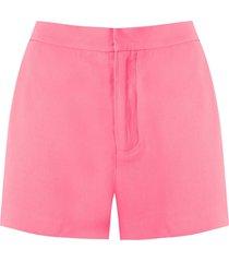 eva alfaiate patou shorts - pink